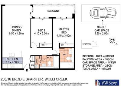 205 / 16 Brodie Spark Drive, Wolli Creek