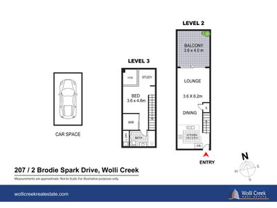 207 / 2 Brodie Spark Drive , Wolli Creek