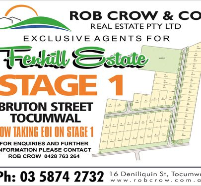 Lot 16, Hadley Street, Fenhill Estate, Tocumwal