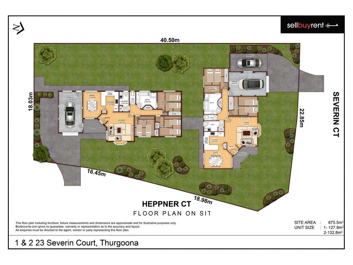 1 & 2 / 23 SEVERIN COURT, Thurgoona