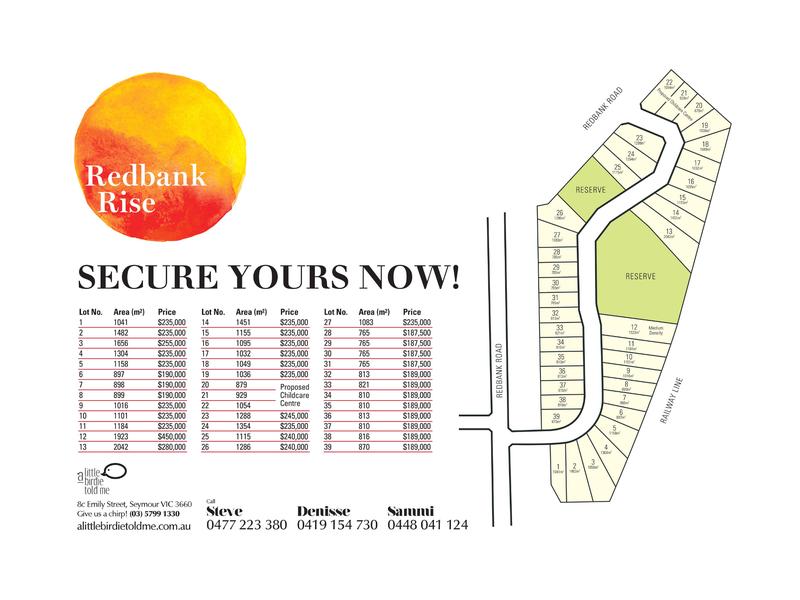 Lot 30 Redbank Rise, Seymour