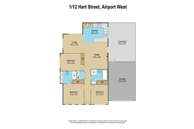 1 / 12 Hart Street, Airport West