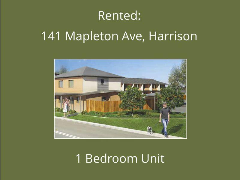 40, 141 Mapleton Ave, Harrison act 2914, Harrison