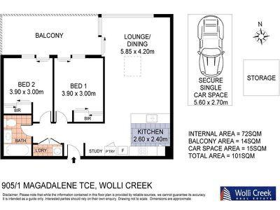 905 / 1 Magdalene Terrace, Wolli Creek