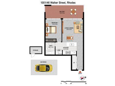 1001 / 46 Walker Street, Rhodes