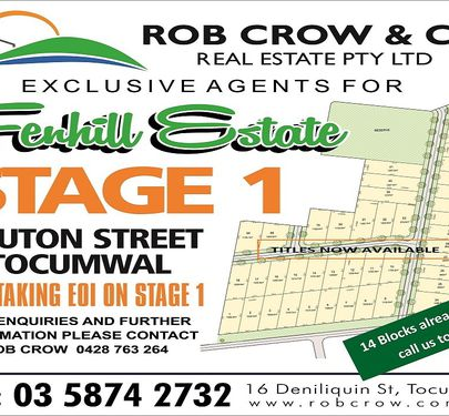 Lot 24, Hadley Street, Fenhill Estate, Tocumwal