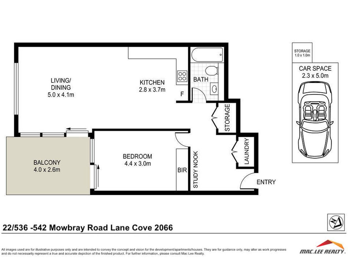 302 / 536-542 Mowbray Road, Lane...