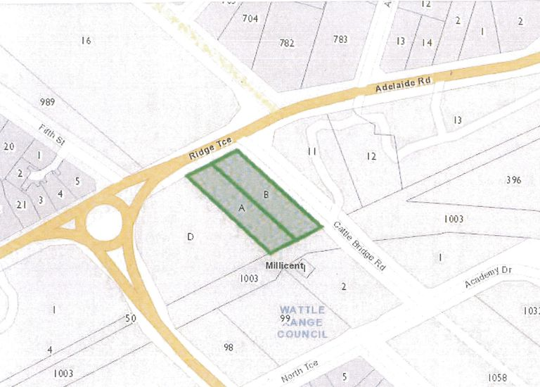 1 Closed Rd Marked A Road Plan 1074/Closed Rd Marked B Road Plan 708A, Millicent