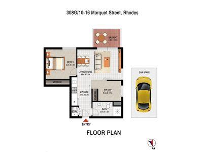 308G / 10-16 Marquet Street, Rhodes