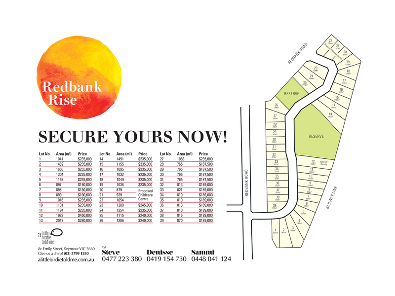 Lot 26 Redbank Rise, Seymour