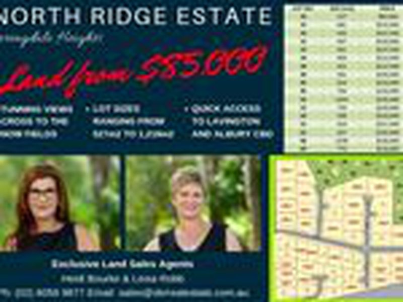 NORTH RIDGE ESTATE - SPRINGDALE HEIGHTS - PRICES STARTING FROM $105,000