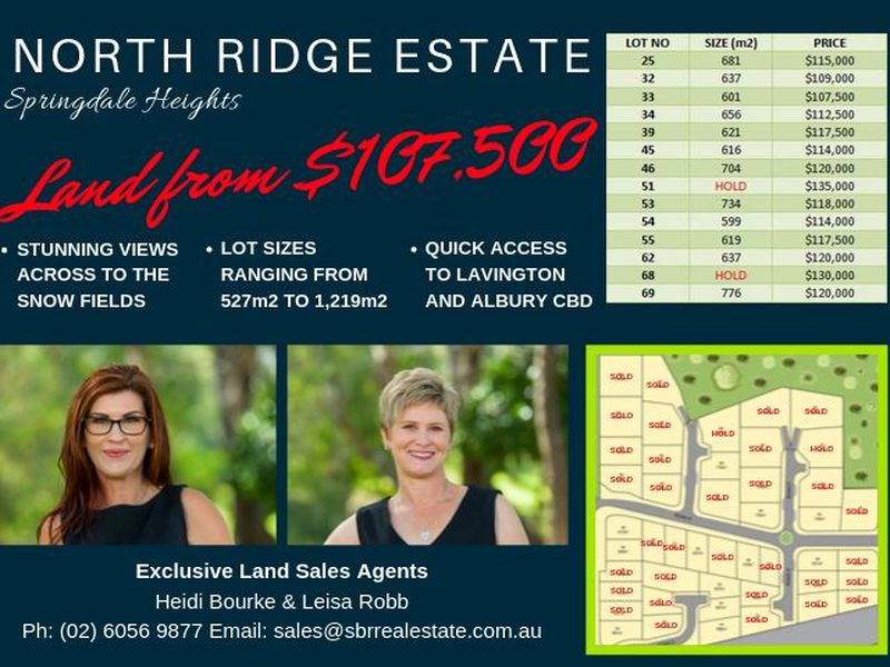 NORTH RIDGE ESTATE - SPRINGDALE HEIGHTS - PRICES STARTING FROM $107,500