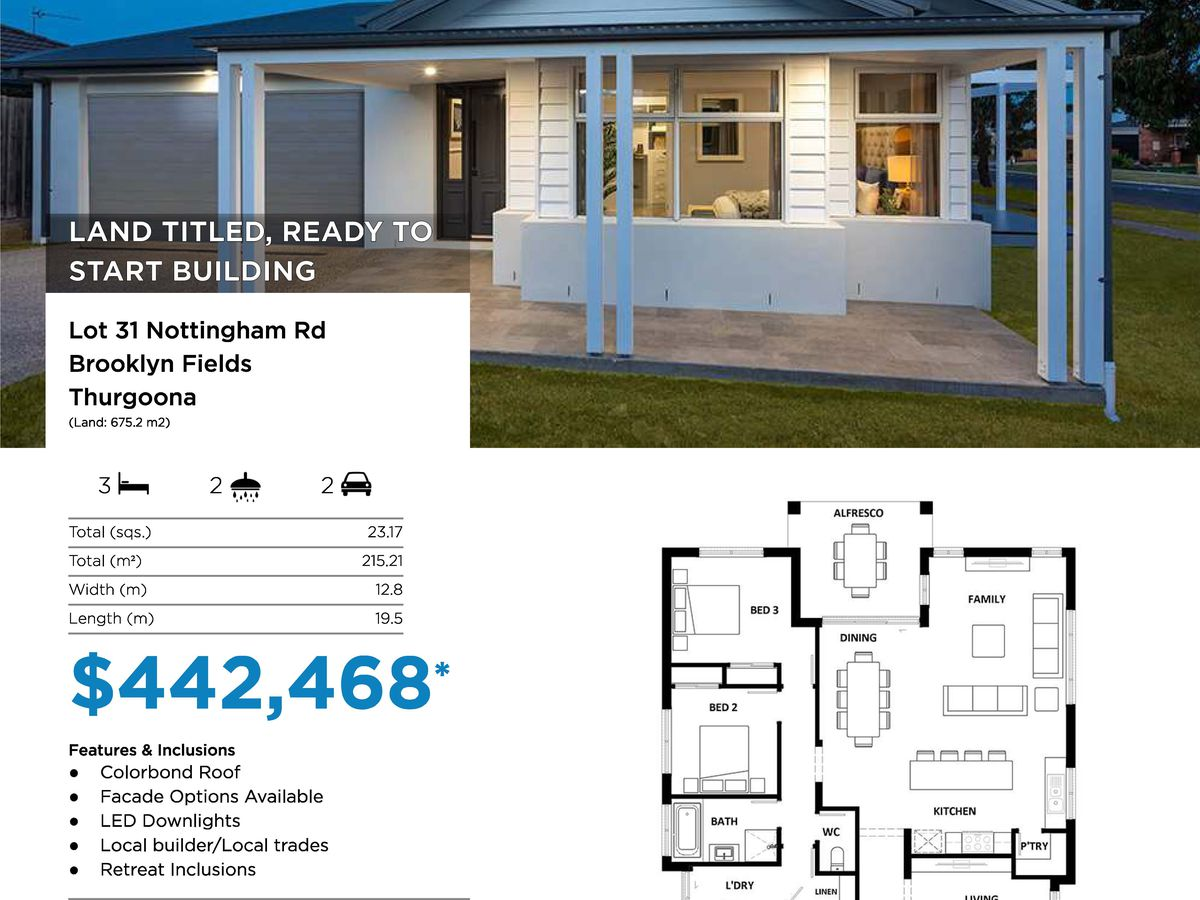 Lot 1-116, Brooklyn Drive, Thurgoona