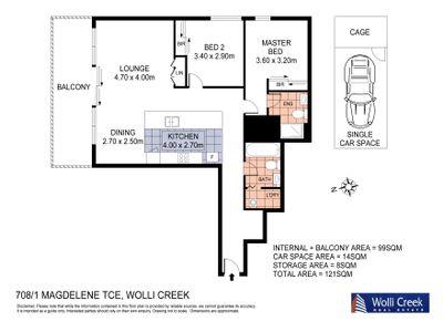 708 / 1 Magdalene Terrace, Wolli Creek